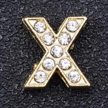 Taşlı Harfler - Kulpsuz  Gold  - X