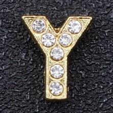 Taşlı Harfler - Kulpsuz  Gold  - Y