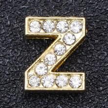 Taşlı Harfler - Kulpsuz  Gold  - Z