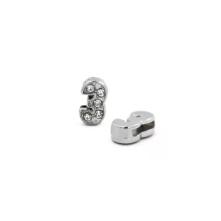 Taşlı Rakam - Kulpsuz  Gümüş - 3