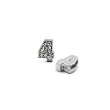 Taşlı Rakam - Kulpsuz  Gümüş - 4
