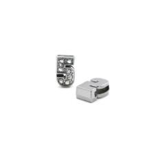Taşlı Rakam - Kulpsuz  Gümüş - 5