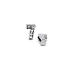 Taşlı Rakam - Kulpsuz  Gümüş - 7