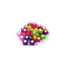 Yıldız Boncuk - Ortası Beyaz - 50 gram