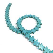Damarlı Yıldız Firuze - Mavi -12mm - İmitasyon