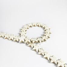 Damarlı Yıldız Firuze - Beyaz -12mm - İmitasyon