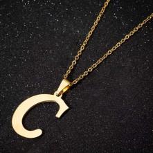 Metal Harfler - Kulplu Gold  - C