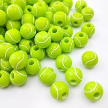 Tenis Topu - Delikli Plastik Boncuk - 1 adet