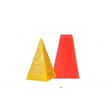 Piramit Silikon Mum Kalıbı M-151