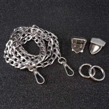 Çanta Zincir Seti - 5 adet - Gümüş