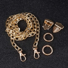 Çanta Zincir Seti - 5 adet - Gold
