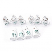 Starbucks Kahve Bardağı Kolye Ucu - Beyaz - 1 Adet