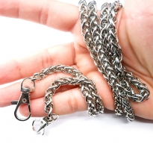 Örme Çanta Zinciri Gümüş - 5 adet - 6 mm