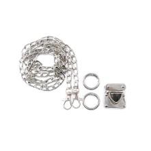 Çanta Zinciri Seti Gümüş - 10 adet - 14x8 mm