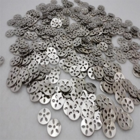 Oyalık Metal Pul Yuvarlak Çiçek Modeli Gümüş