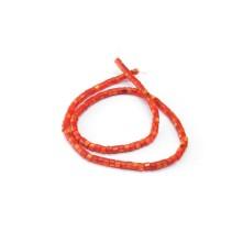 Doğal Sedef Yuvarlak Kesim Boncuk - 4mm - Kırmızı