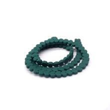 Varisit Kalp Boncuk - Koyu Yeşil - 6mm